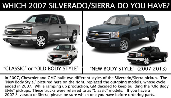 07 Chevy Silverado Split Year Clic Vs New Body