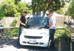 Auto Glass Repair (Smart Car Windshield) by Mobile Glass in Cedar Park, Texas.